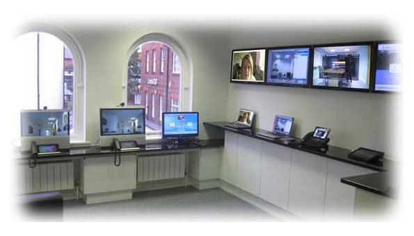 Desktop and mobile video conferencing demonstration suite UK