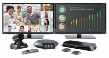 Lifesize Icon 600 Video Conferencing system with dual screens, camera and mic/phone options