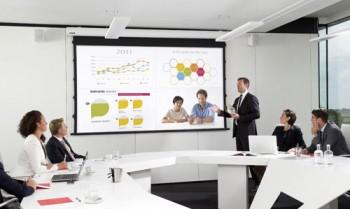 Barco ClickShare sharing 4 screens worth of data