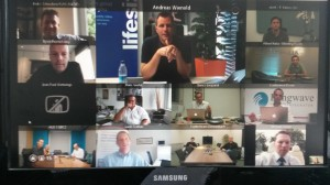16 way Lifesize Cloud Video Conference from my home office