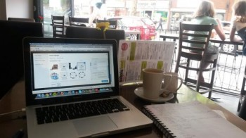 Flexible working from the cafe