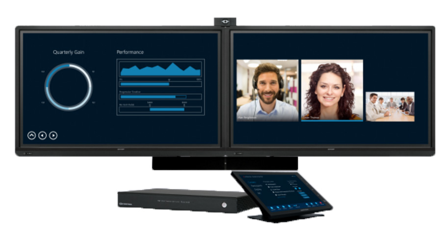 Dual Screen Crestron RL2 Video Collaboration System