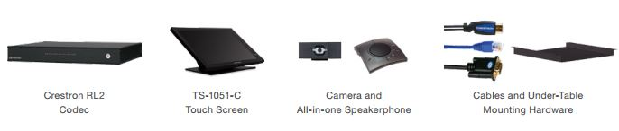 Crestron Skype for Business Room System RL2 components
