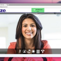 Lifesize Cloud WebRTC Web App with smiling lady on Google Chrome