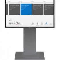 Single Display Skype for Business System with dark floor stand