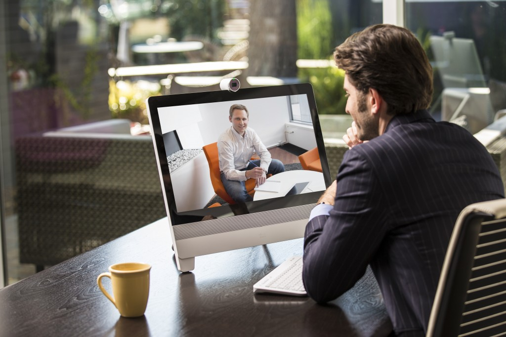 Cisco DX70 Video Conferencing system in use