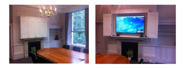 Video Conferencing and screen installed in grade 2 listed building