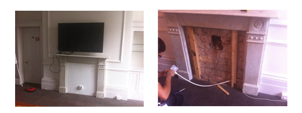 Before VideoCentric Installation into Grade II listed building