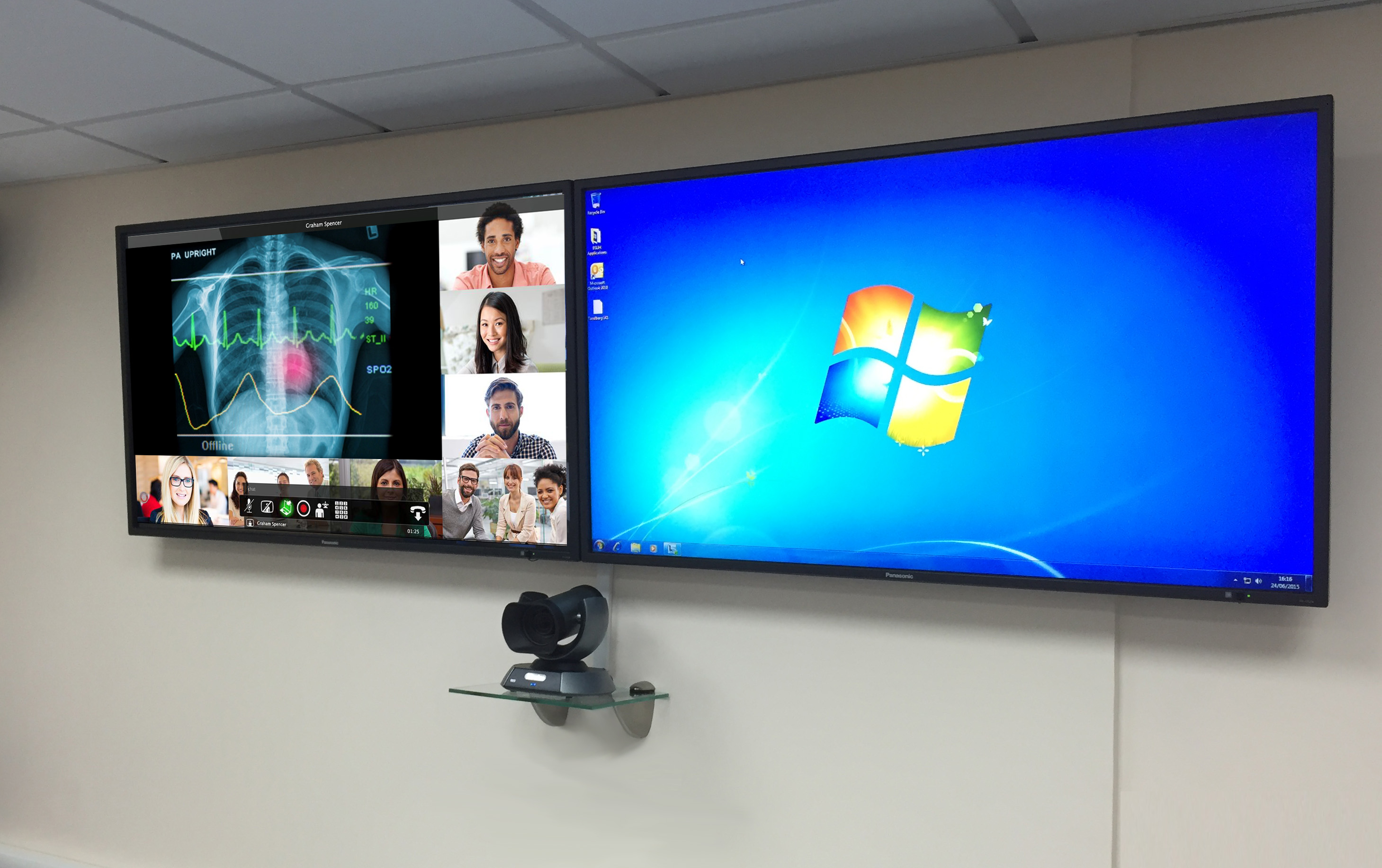 BSUH Lifesize Video Conferencing dual screen display