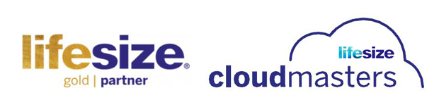 Lifesize Gold Partner and Lifesize Cloud Master Logos VideoCentric