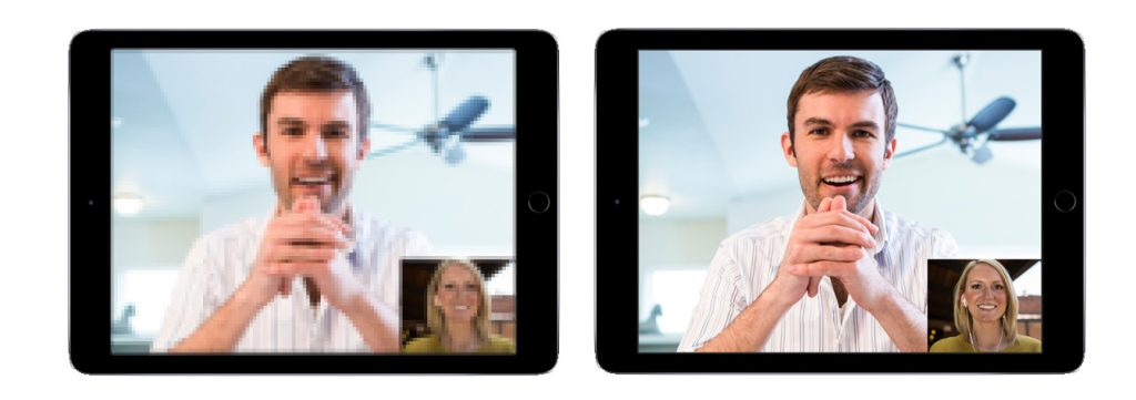 Lifesize Tablet showing poor quality vs good quality Video Conferencing