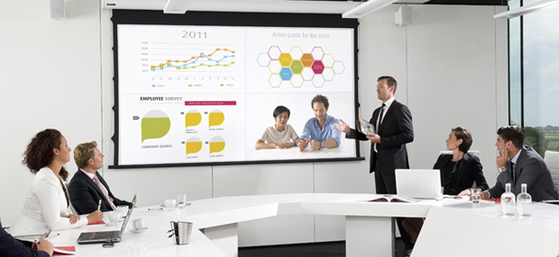 Barco Clickshare with 4 way data sharing in Meeting Room