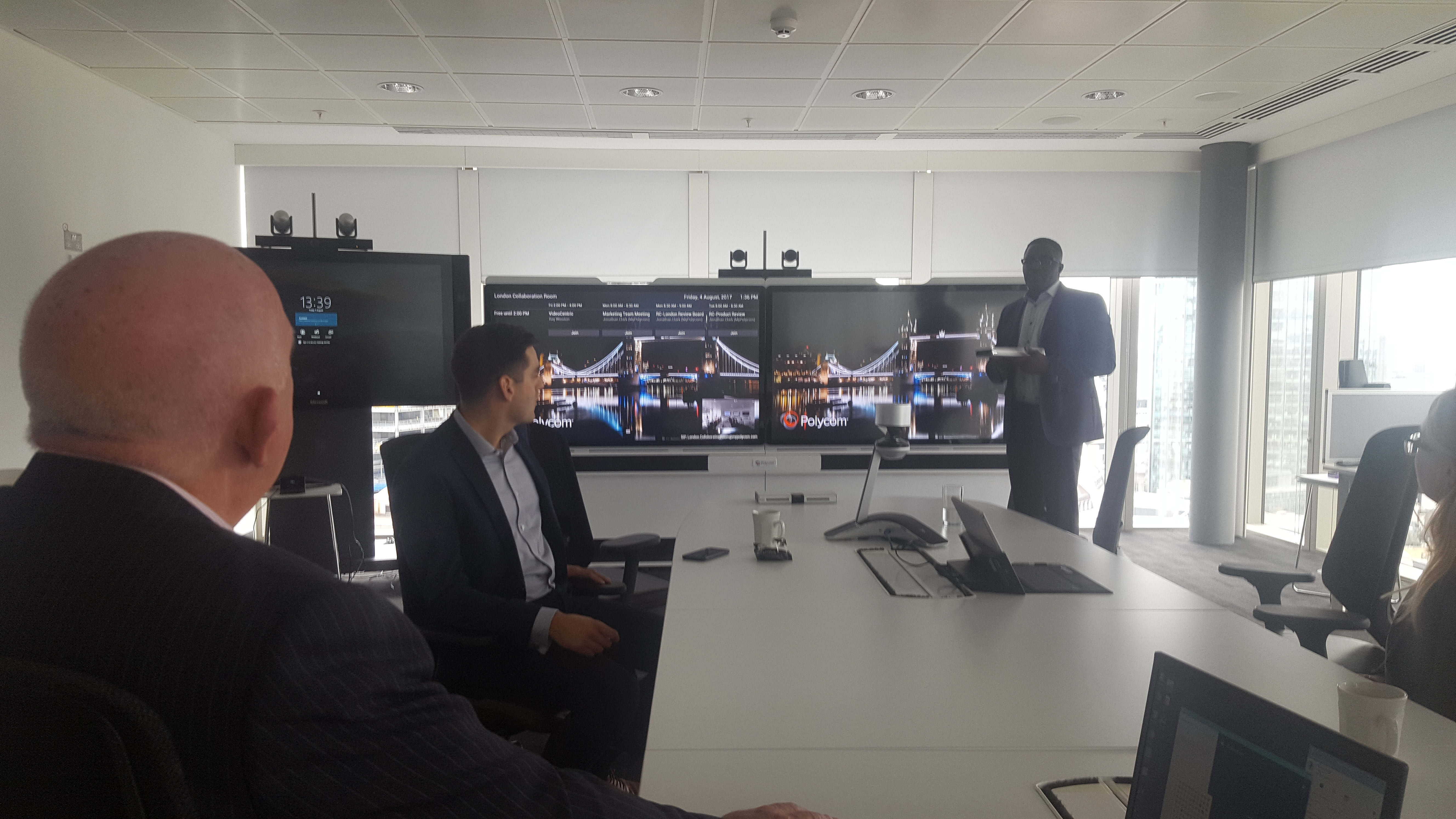 Polycom Medialign in Meeting Room at EEC, London