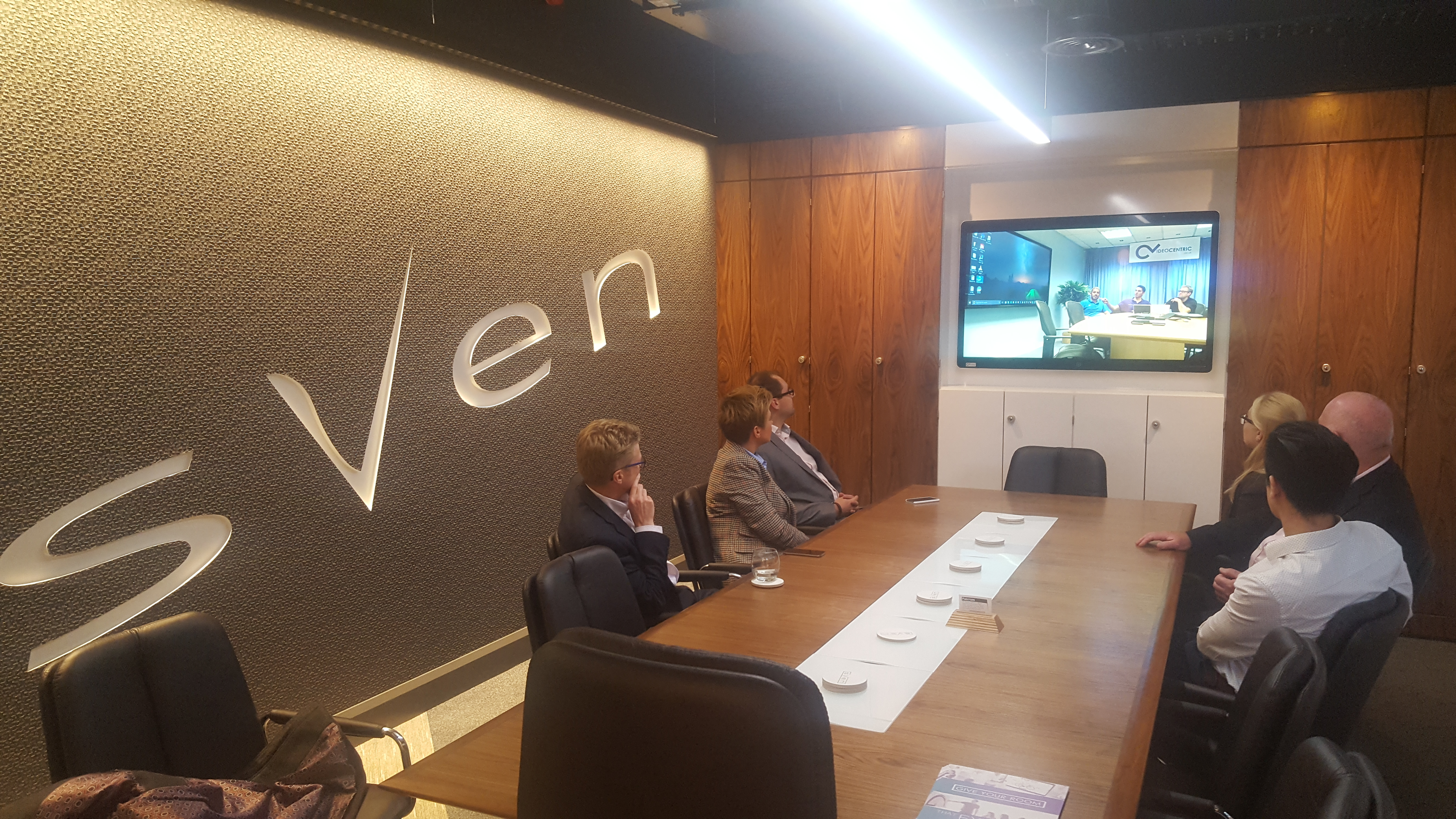 VideoCentric in the Sven London demonstration suite
