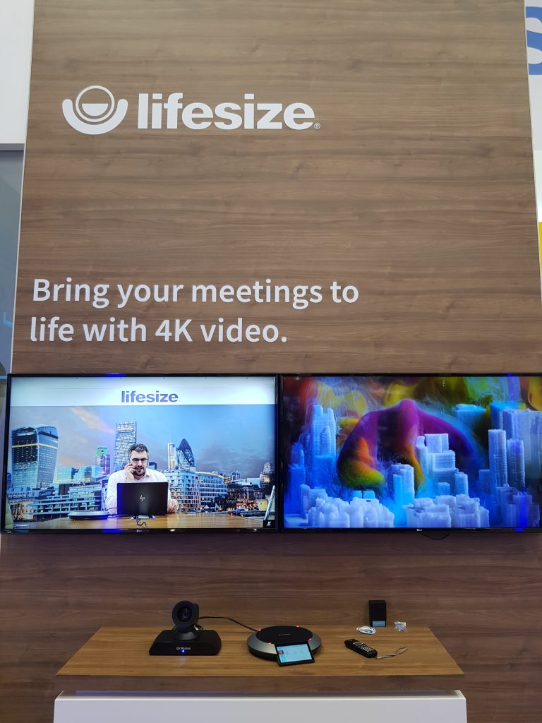 Lifesize 4K Video Conferencing system with dual screen display