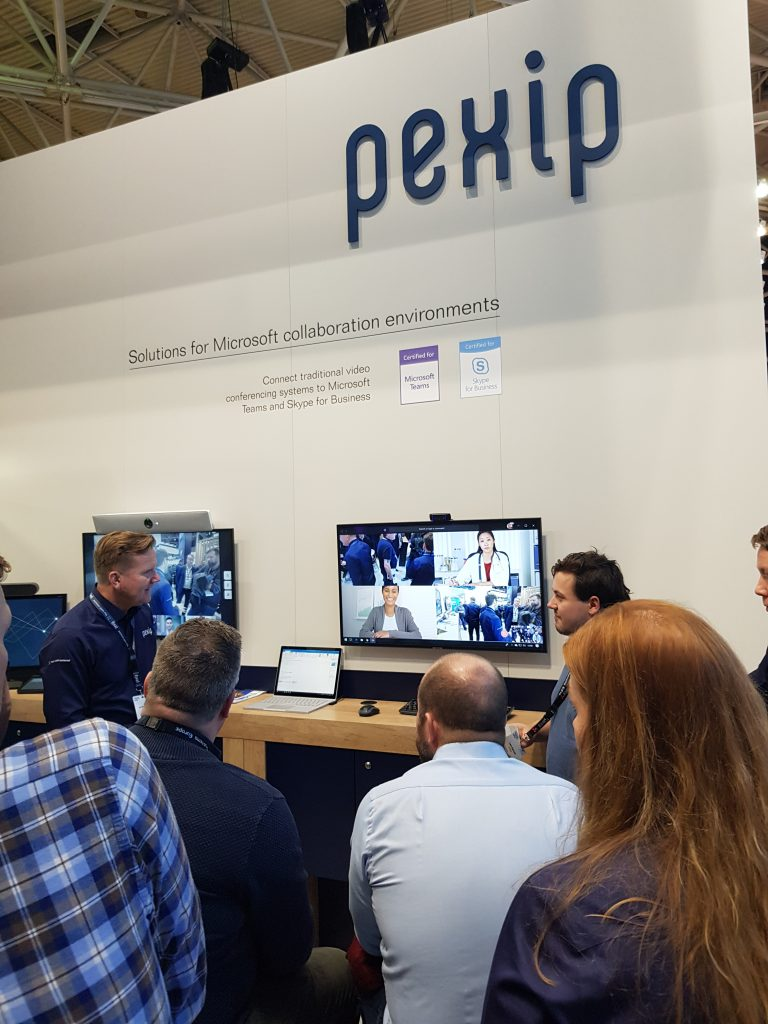 Pexip showing Microsoft Teams integration at ISE 2019