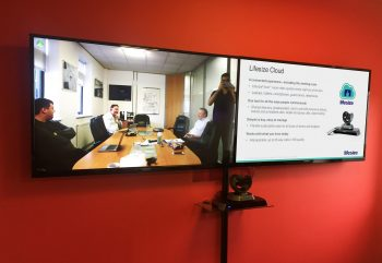 Ligentia Video Conferencing Dual Screen Installation