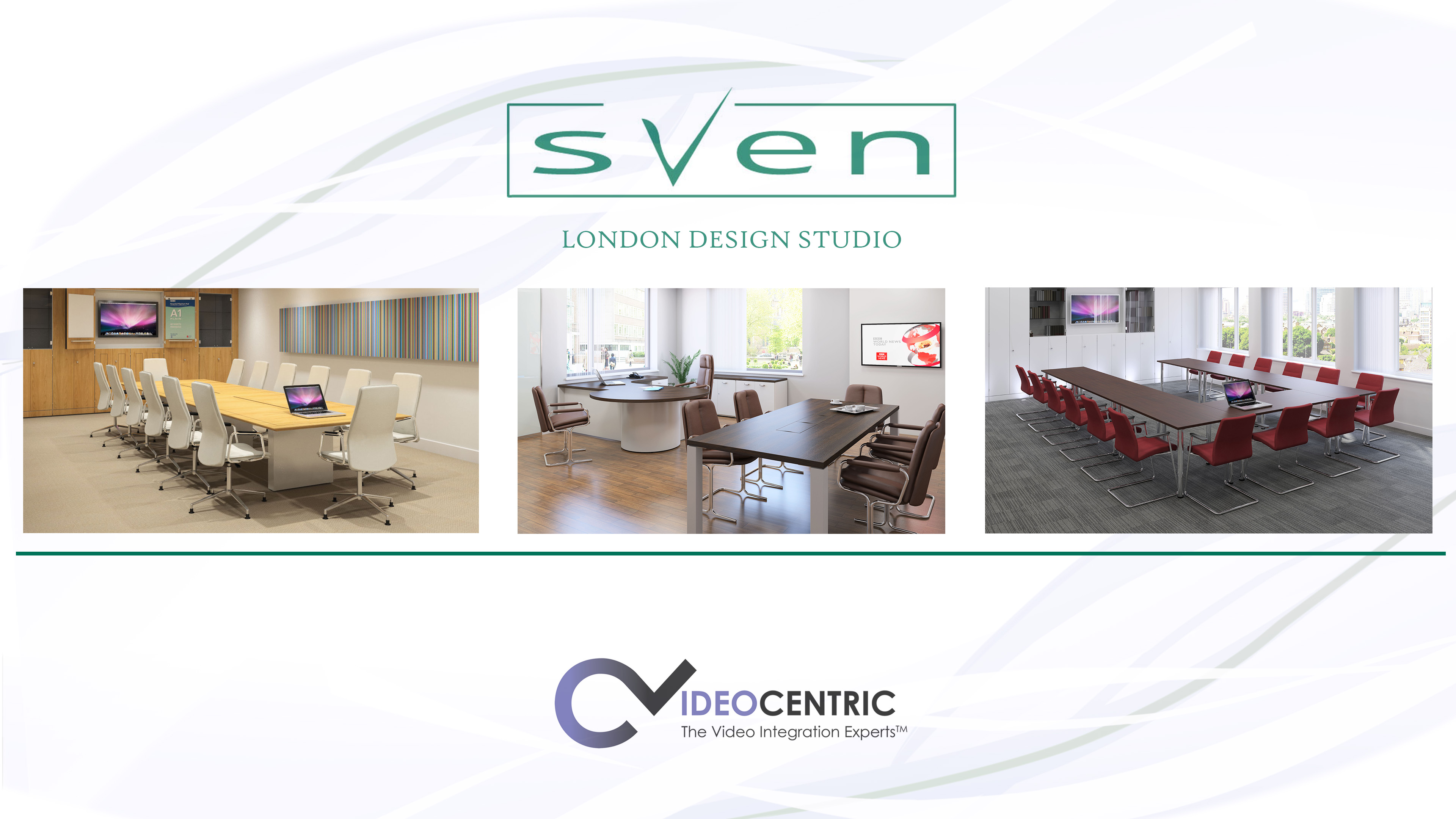 Sven and VideoCentric logo and Sven furniture images