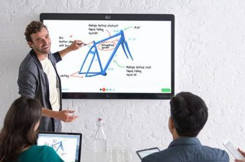 Cisco Spark board in meeting room