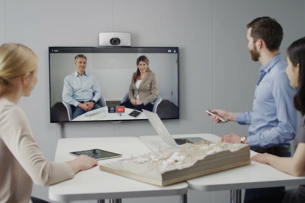 Cisco SX10 Huddle Room with topographical map