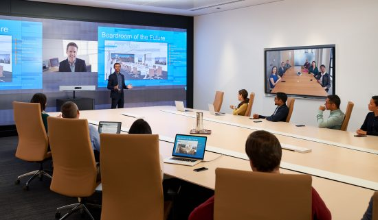 Cisco WebEx Room Kit Pro in large boardroom