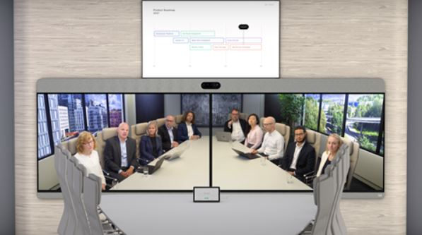Cisco WebEx Room Panorama with 3 displays