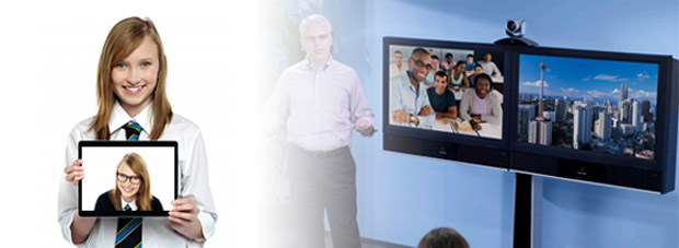 Video Conferencing in Classroom and on student tablet