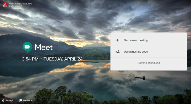 Google Hangouts Meet Landing Page