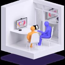 Lifesize Dash for mini meeting spaces diagram