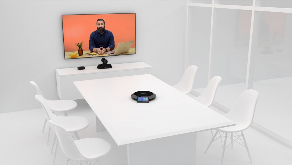 Lifesize Icon 500 4K system in meeting room with single screen in Video Conference