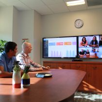Lifesize Icon HD Video system with Dual Screen Display in Meeting Room