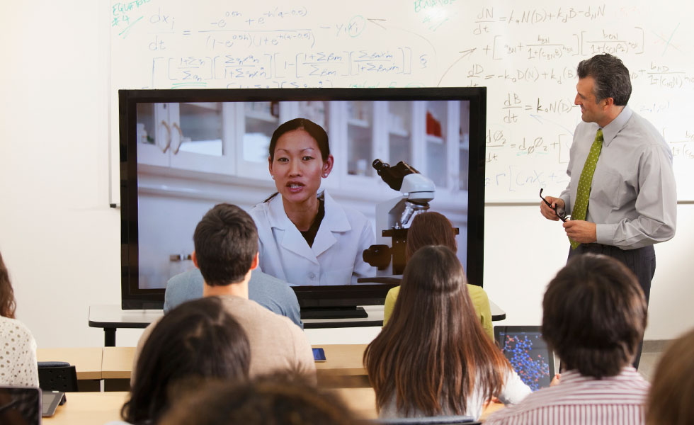 Lifesize Video Conferencing in classroom