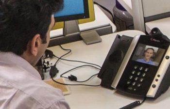 Polycom VVX on an office desk