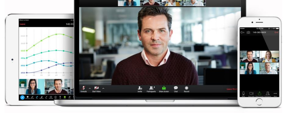 RingCentral Video Meetings on tablet, laptop and mobile device
