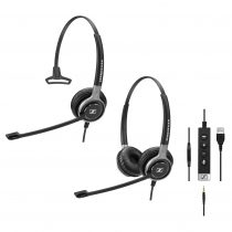 Sennheiser SC635 and SC665 headsets with adapter