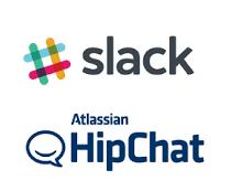Slack Hipchat logos