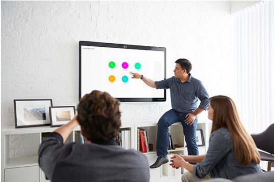 Cisco Sparkboard in meeting