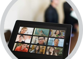 Zoom Webinars on tablet